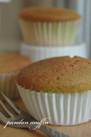 pandan muffin