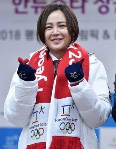 ピョンチャンオリンピックの応援に参加するチャン・グンソク