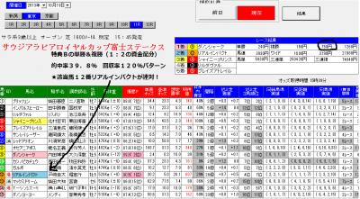 10/19富士Sの単撃ロボ予想画面