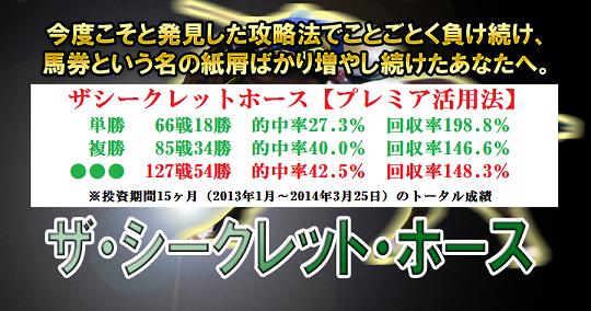 月額課金の競馬商材ザシークレットホース【プレミア活用法】
