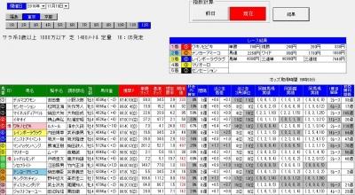 単撃ロボ11月19東京12R直前画面