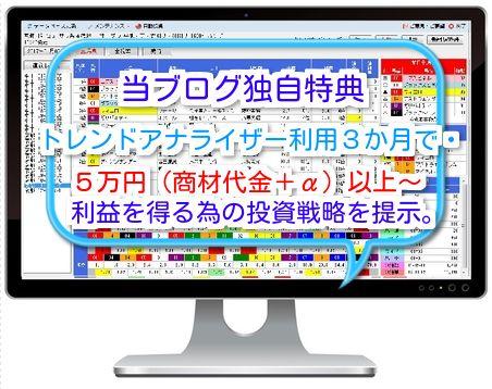 当ブログ独自の競馬特典紹介「5万円(商材代金+α)以上の利益を得る為の戦略」を提示しました。