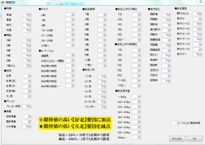 インデックスメーカー環境設定画面