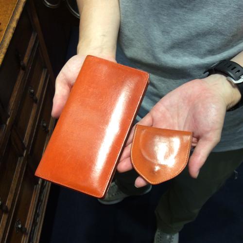 ご使用いただいている、長財布とコインケースのオレンジ