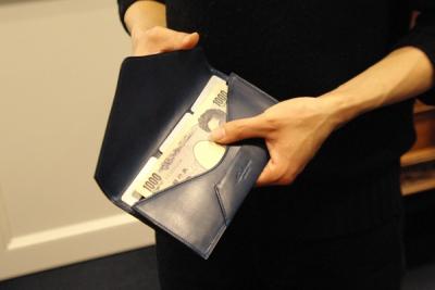 封筒型財布 中