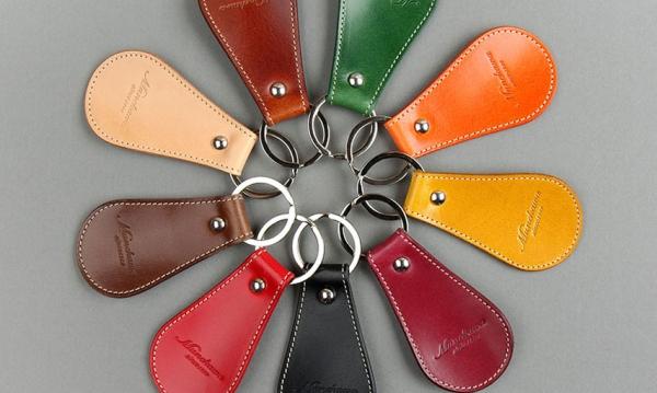 キーホルダー 靴べら 便利 シューホーン キーリング Grid Munekawa 宗川 カラフル コンパクト シンプル スマート 革 レザー