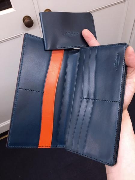 手縫い長財布完成、内側画像