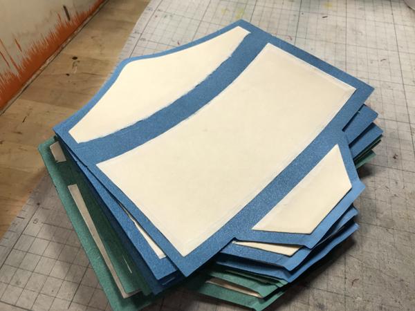 封筒型長財布製作風景
