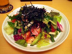 有機野菜と海老のサラダ