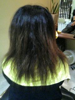 髪の毛の状態、波状毛