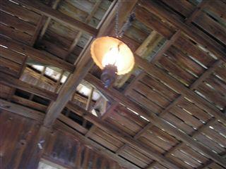 湯小屋の天井