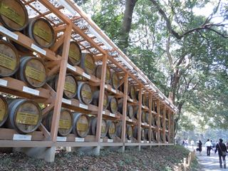 積みワイン樽