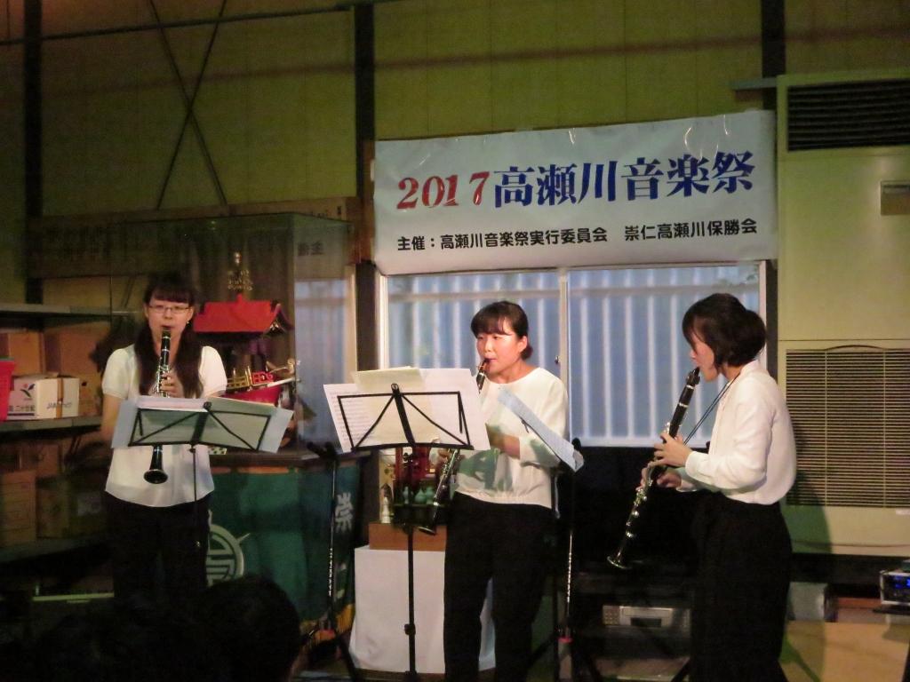 京都市立芸術大学学生さんのクラリネット3重奏