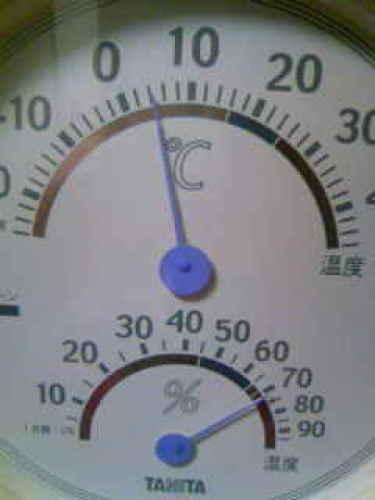 我が家の室温(4度)