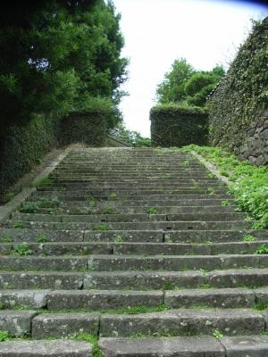 松陰が上った階段