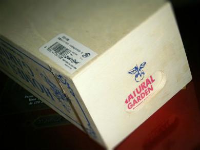 石けん型に牛乳パックと100均木箱を合体