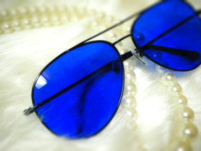 青色サングラスでダイエット&リラックス