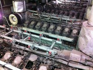 八甲田丸のエンジン