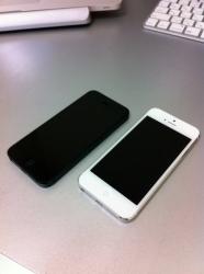 iPhone5:黒と白