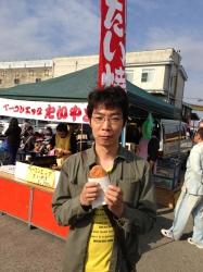 謎の鯛焼きを買う坂本さん
