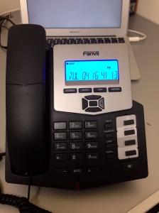 SIP対応 IP電話機 C56 接続直後
