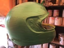 ヘルメット カスタムペイントの工程