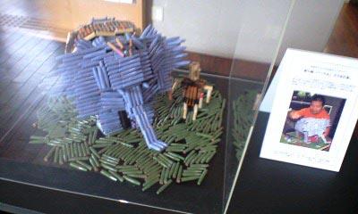 箸の端で作った恐竜