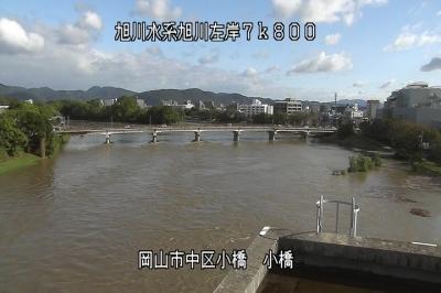 小橋から相生橋を見た風景