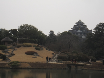 後楽園から見る岡山城