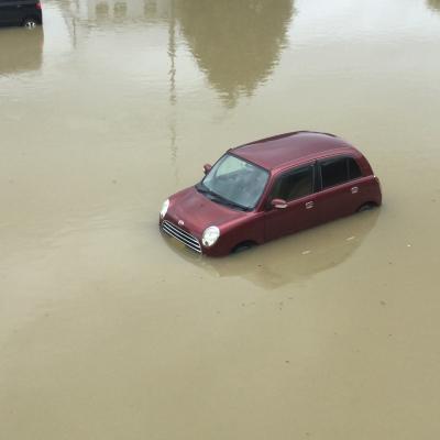 冠水した車