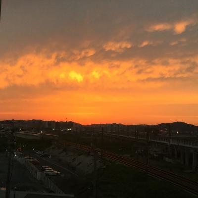 夕焼けの風景