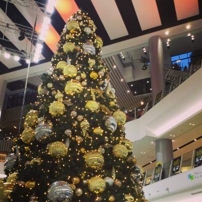 イオン岡山のクリスマスツリー
