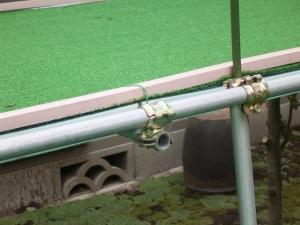 盆栽棚人工芝固定部