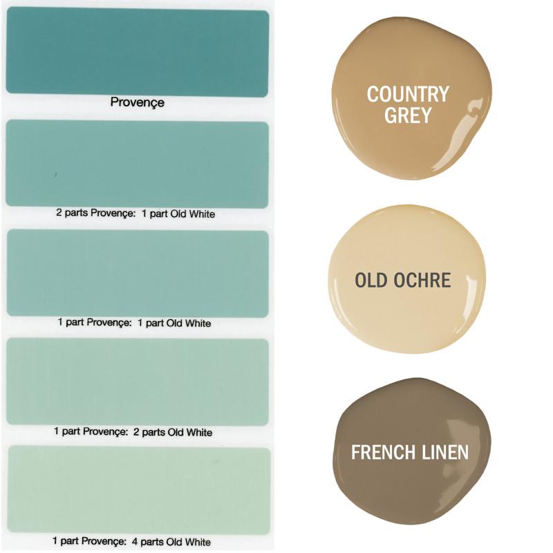 プロヴァンス色の色調とバランス色