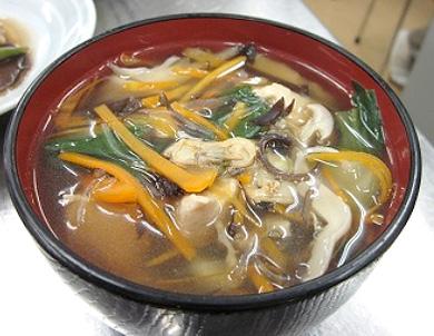 きのこの中華風スープ