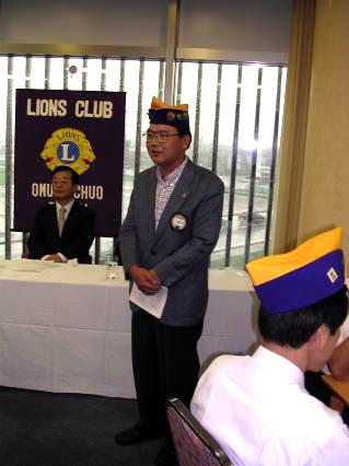 会員育成委員長 L福田の歓迎の言葉