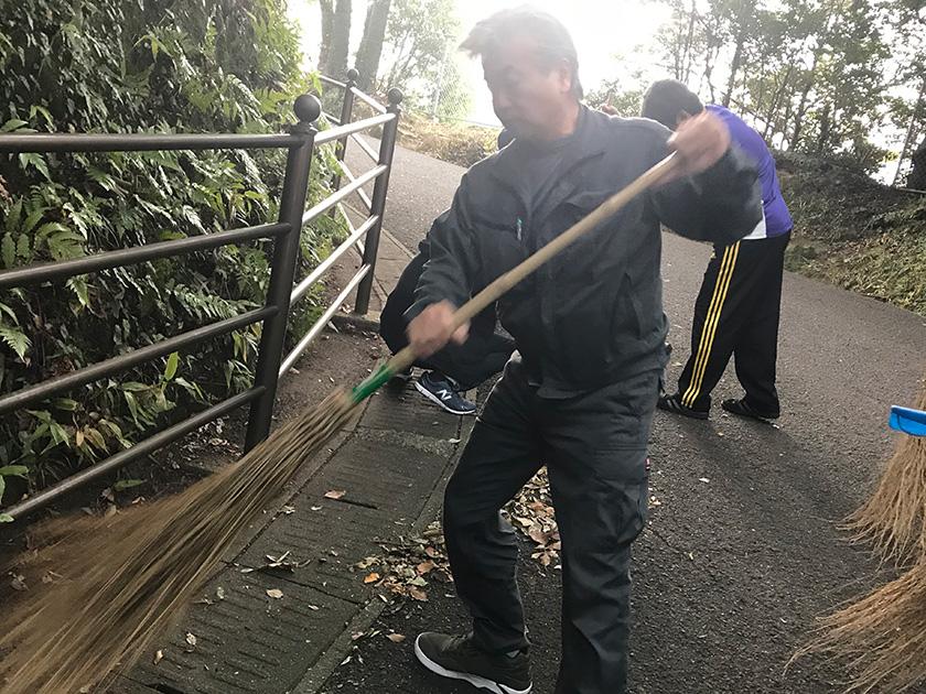 2018年秋の忠霊塔清掃