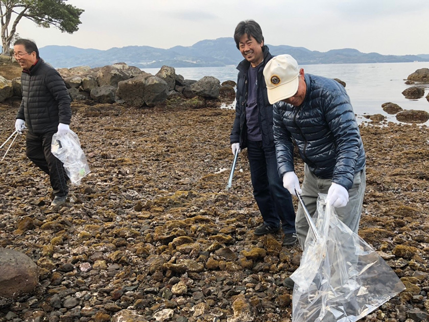 平成30年度春の大村湾沿岸一斉清掃