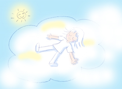 夏の雲と私