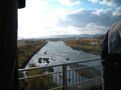 帰りの石狩川