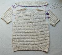 ポロカラーのセーター