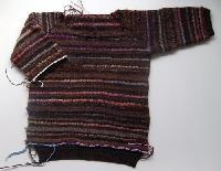 ヴォーグ学園手編み講師取得講座 ラグランスリーブのプルオーバー