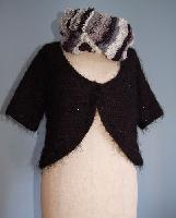 アフガン編みのジャケット