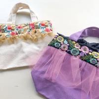 刺繍リボンバッグ