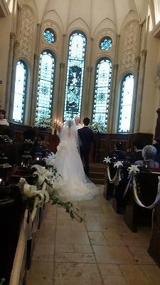 結婚式 ハートフィールド 2月 雨