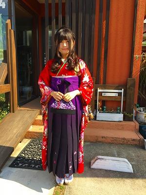 卒業式 はかま 袴 ハーフアップ ハイカラさん