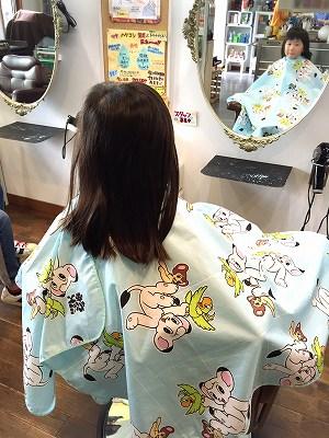 子供カット ショート アシメ前髪 短い前髪 オン眉