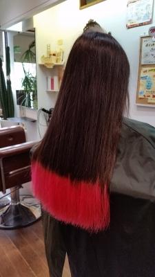 カラーバター ピンク 髪色 ヘアカラー 富士