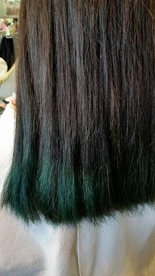 カラーバター 緑 髪色 ヘアカラー 富士