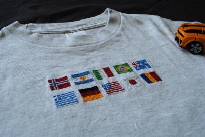 国旗のTシャツ
